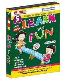 MAS Kreations Learn with Fun Pack of 5 DVD - Hindi And English