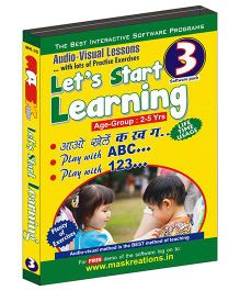 MAS Kreations Lets Start Learning 3 CD Pack - English And Hindi