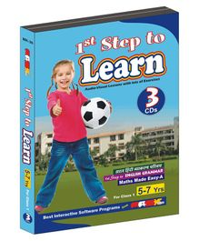 MAS Kreations 1st Step to Learn 3 CD Pack - English And Hindi
