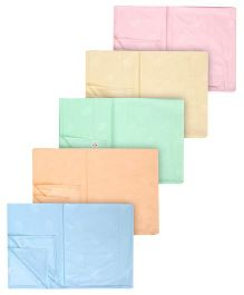 Tinycare Plastic Bed Protector Sheets Plain - Set Of 5