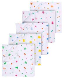 Tinycare Square White Baby Nappy Large - Pack Of 5