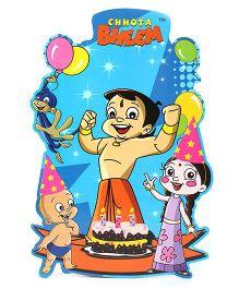 Prasima Toys Chhota Bheem Wooden Cut-outs - Happy Birthday