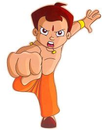 Prasima Toys Chhota Bheem In Fighting Pose Wooden Cut Out