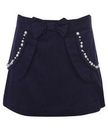 Nauti Nati Peplum Skirt - Bow Applique