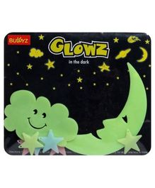 Buddyz Glowz Smiling Cloud And Smiling Moon Stickers