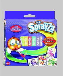 Sprayza 12 Pens and Stencils Set