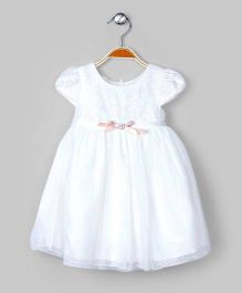Snow White Dazzling Dress With Bow
