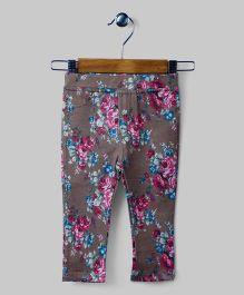Dark Puce Floral Pants