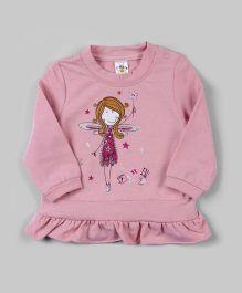 Light Pink Ruffle Hem Fairy Tunic