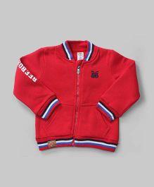 Red Smarty Zipper Jacket