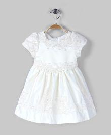 Floral Bliss White Dress