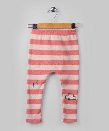 Congo Pink Car Printed Pants