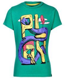 Nauti Nati Half Sleeves T-Shirt Dark Green - Play Print