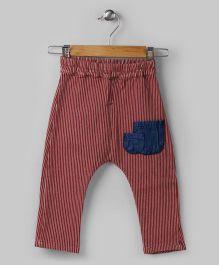 Brown Patch Pocket Pants