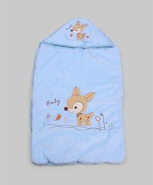 Light Blue Deer Hoodie Sleeping Bag