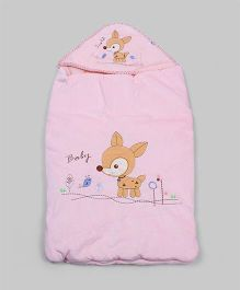 Light Pink Deer Hoodie Sleeping Bag
