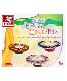 Toy Kraft Sand Art Festive Candle Pots