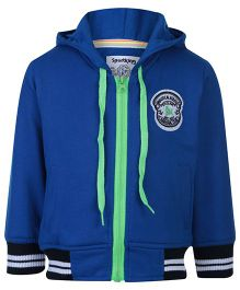 Sportking Full Sleeve Hooded Sweatshirt - Front Patch