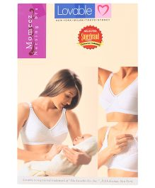 Lovable Moms Nursing Bra - White