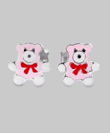 Pink Teddy Bow Earrings