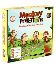 Logic Roots Fractions Card Game - Monkey Fractions