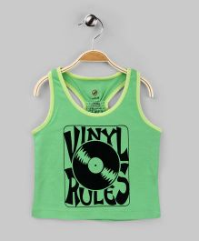 Paris Green Vinyl Rules Racerback Tee