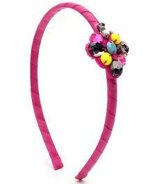 Addon Hair Band Pink - Beads Work