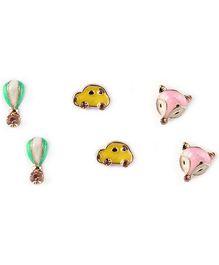 Addon Ear Ring Set Multi Color - Set of 3