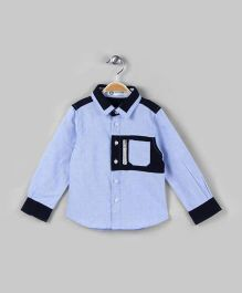 Sky Blue & Navy Stylish Shirt