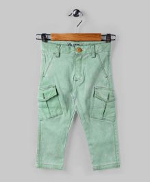 Paris Green Patch Pocket Pants