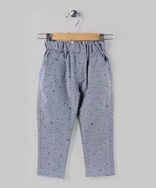 Conmoo Printed Cadet Pants - Grey