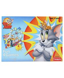 MGM Tom And Jerry Fun And Games 4 In 1 Puzzle - 30 Pieces