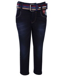 Talent Denim Jeans With Belt - Blue