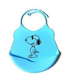 Glitter Art Silicone Bib Puppy - Blue