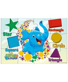 Cardinal Gates  Disney Elefun And Friends Wooden Puzzle - 12 Pieces