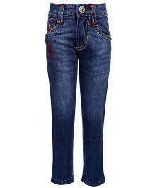 Hollywood Full Length Jeans - Skull Design