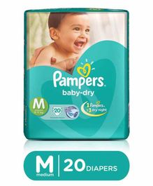 Pampers Baby Dry Diapers Medium - 20 Pieces
