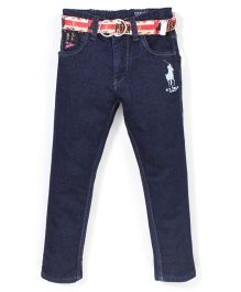 New York Polo Academy Jeans With Belt - Dark Blue