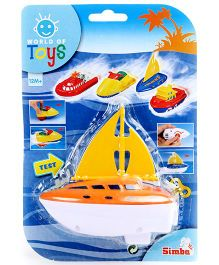 Simba World Of Toys Wind Up Sea Mini Boat - Orange