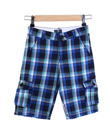 Bells and Whistles Varsity Shorts In Navy And Yellow Checks