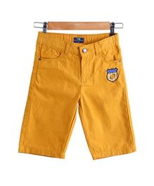 Bells and Whistles Varsity Shorts In Mustard Color