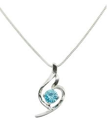 Diovanni Crystal Necklace - Turquoise Treasure Silver Delight