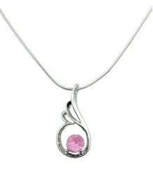 Diovanni Pink Crystal Necklace - Freedom to Fly and Achieve