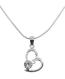 Diovanni Crystal Necklace - Heart Shape