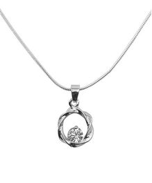 Diovanni Crystal Necklace - Crescent Moon Charmed Skylight