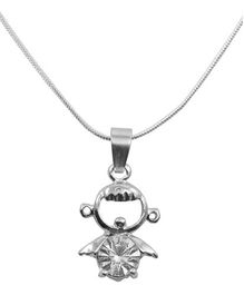 Diovanni Crystal Necklace - Silver