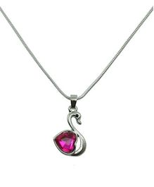 Angel Glitter Pink Crystal Necklace - My Swan Song