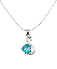 Diovanni Blue Crystal Necklace - My Swan Song