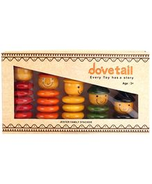 Dovetail Wooden Toy Jester Family Stacker - Multi Color