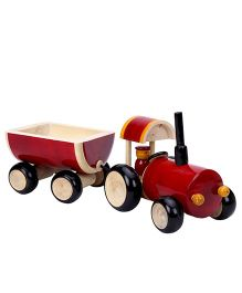 Dovetail Tractor And Trolley - Red